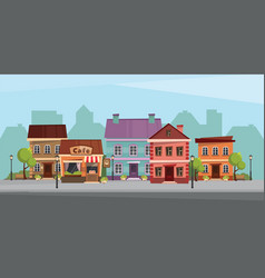 the landscape of the historic city vector image