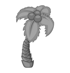 Tropical palm icon gray monochrome style vector