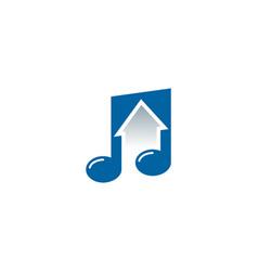 up music logo icon design vector image