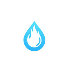 water fire logo icon design vector image