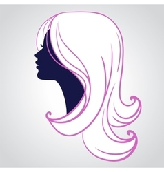 Woman face silhouette isolated vector