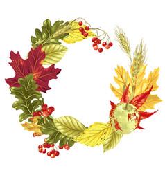 Wreath decor element for harvest season vector