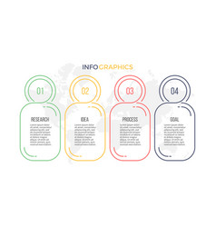 business infographics presentation with 4 options vector image vector image