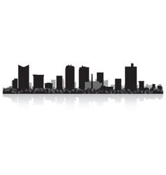 Fort Worth USA city skyline silhouette vector image