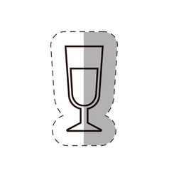 glass cup beverage line vector image