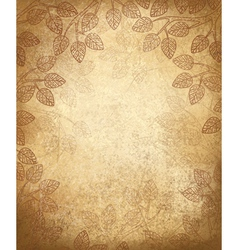 leaves background vector image