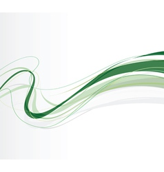 swirling lines green vector image