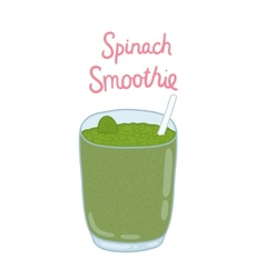 cartoon hand drawn spinach smoothie vector image vector image