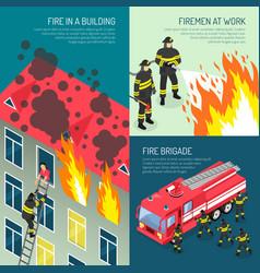 fire department design concept set vector image vector image