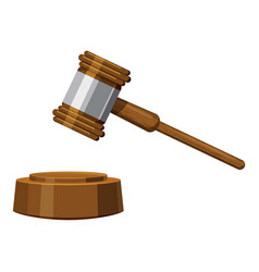 gavel icon cartoon style vector image
