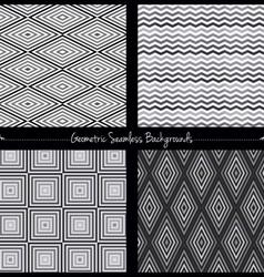 Geometric seamless background set vector image vector image
