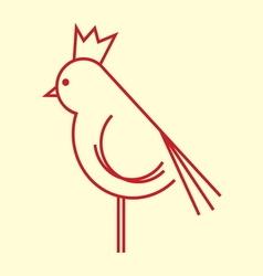 ptica koka petao simple1 vector image vector image