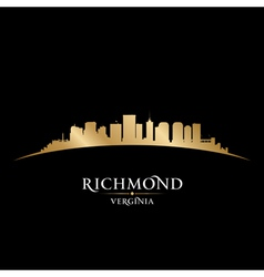 Richmond Virginia city skyline silhouette vector image