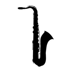 saxophone jazz musical instrument silhouette vector image vector image