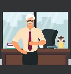senior successful businessman flat vector image