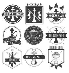 Set of hookah club logotypes vector image
