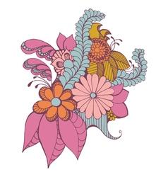 Zentangle Paisley Design vector image vector image