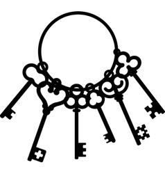 antique skeleton keys vector image