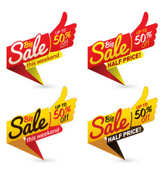big sale price offer deal labels templates vector image