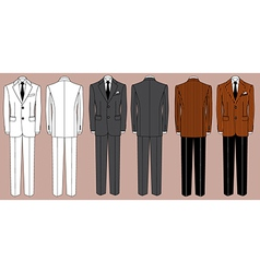 Mans suits for business isolated for design vector image vector image
