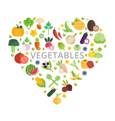 Mix vegetables banner with place for text vector