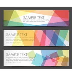 Simple colorful horizontal banners vector