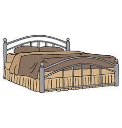 Big bed vector