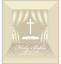 hall for Christian preaching vector image vector image