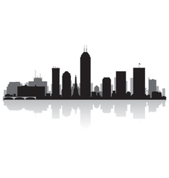 Indianapolis USA city skyline silhouette vector image