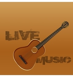 live music guitar vector image