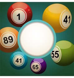 retro bingo lottery ball background vector image
