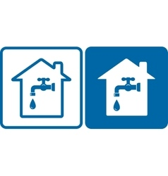 set of house and water tap vector image vector image