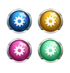 settings cogwheel button vector image vector image