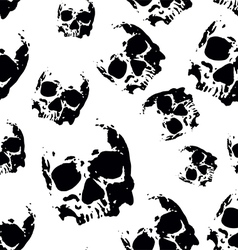 skull seamless pattern vector image vector image
