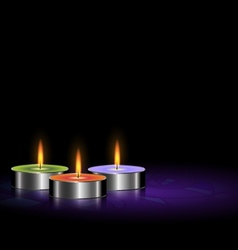 small candles vector image
