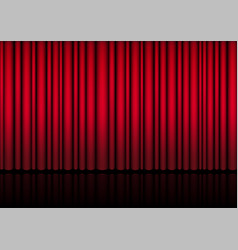 3d mock up realistic red curtain on stage vector image
