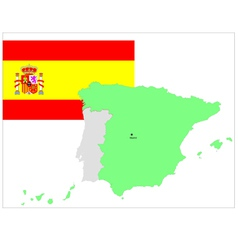 6146 spaine map and flag vector image