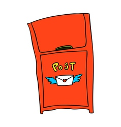 A view of post box vector