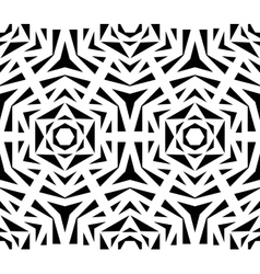 Abstract Black Rose Pattern vector image