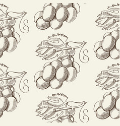 abstract fruit hand drawn seamless pattern vector image