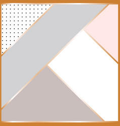 abstract geometric composition scandinavian vector image