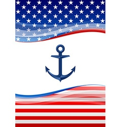 American navy background vector