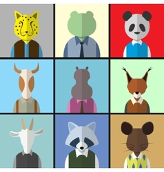 Animal Avatar Icon Set vector image