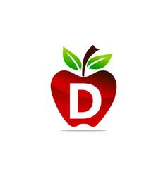apple letter d logo design template vector image
