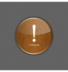 Attention wood application icons vector image