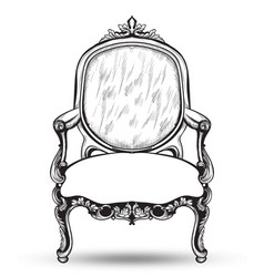 Baroque armchair french luxury rich vector