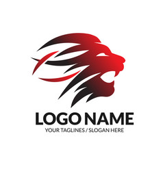 best lion head logo concept vector image