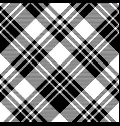 Black and white fabric texture check seamless vector