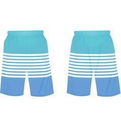 Blue summer shorts vector