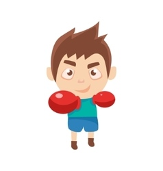 Boy Sportsman Boxing Part Of Child Sports Training vector image